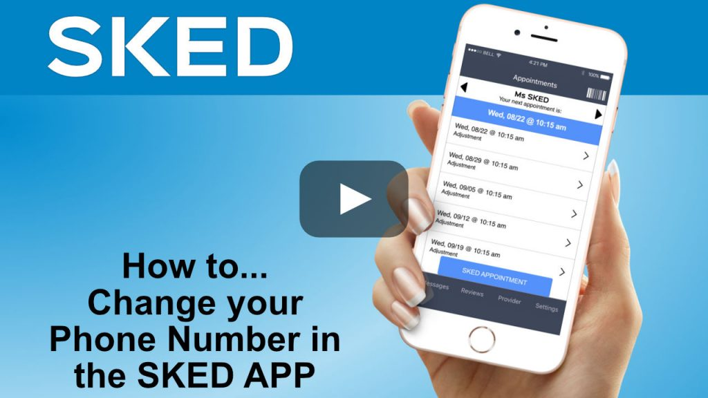 how to change your phone number in the sked app