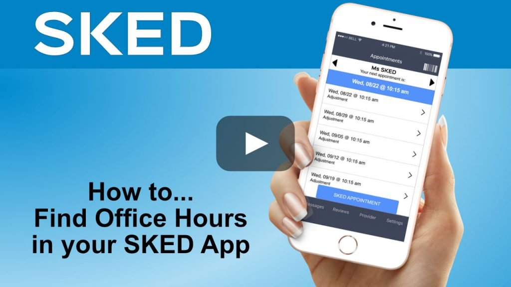 find office hours in your sked app