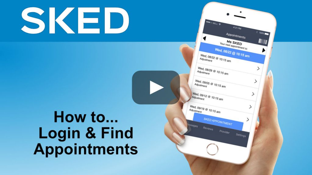 how to login and find appointments